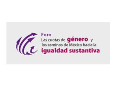 Logo: Foro las cuotas de género y los caminos hacia la igualdad sustantiva