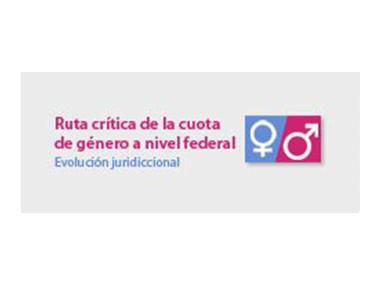 Logo: Ruta crítica de la cuota de género a nivel federal