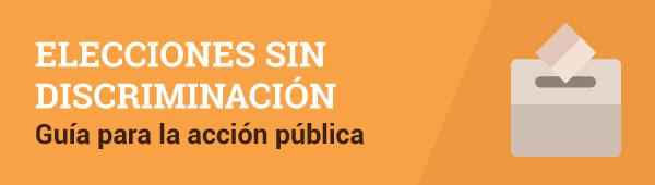 Banner elecciones sin discriminación