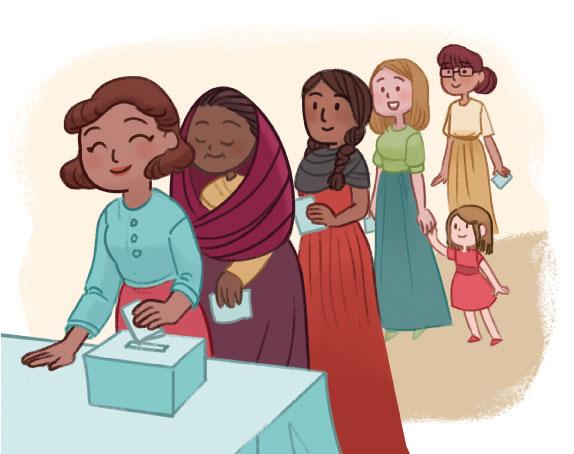 Imagen: día de la votación