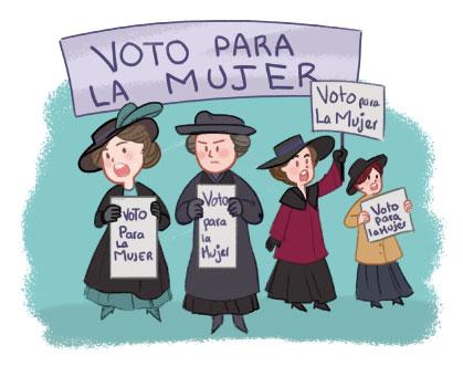 Imagen: voto para la mujer