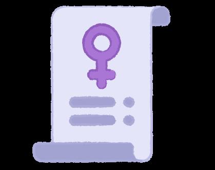 Imagen: solicitud del voto de la mujer